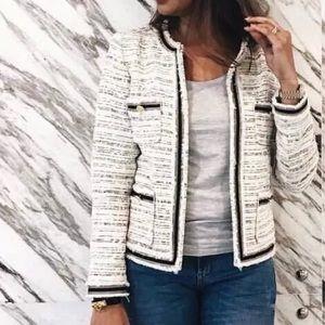 New Zara Tweed Blazer Jacket Size Small